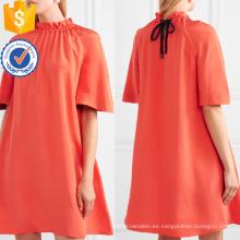 Manga corta floja plisada A-Line del verano mini vestido de la fabricación de la ropa de las mujeres al por mayor de la manera (TA0276D)
