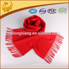 2015 Classic High Quality Solid Color Woven Wool Scarf