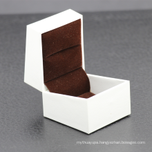 Custom wedding small gift box exquisite glossy white biodegradable magnetic folding lid jewelry ring box