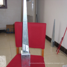 galvanized ground timber post anchor for fence and garden