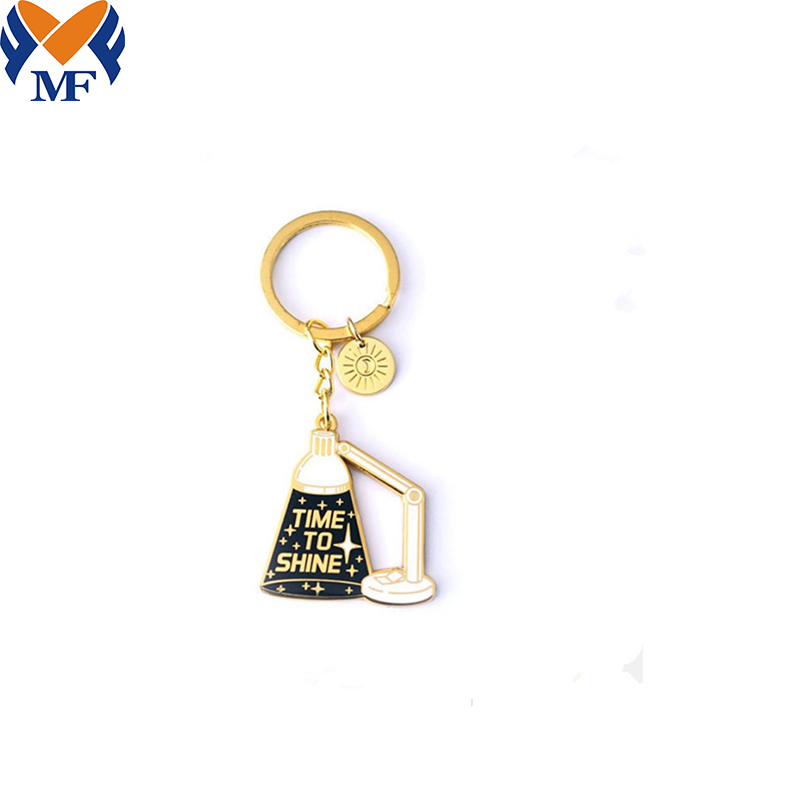 Time To Shine Enamel Keychain1
