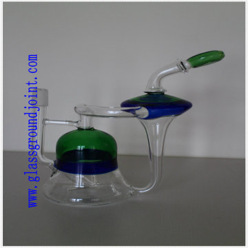 Tubo de água de vidro para narguilé com juntas de terra para fumar