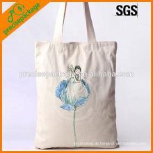 Leinwand Baumwollhandtasche mit künstlerischem Druck