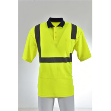 High Visibility T Shirt Premium ANSI Class 2 moisture Wicking Polyester