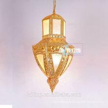 Lámpara de cristal Eypt de lujo marroquí que enciende la iluminación de Oriente Medio