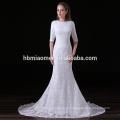 Западный брак свадьба платье Длина пола белый цвет bodycorn традиционной невесты платье с небольшим хвостиком