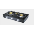 ثلاثة شعلة Glasstop Brass Burner Gas Hob