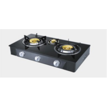 3 Glass Glass Glass Gas Burner