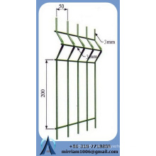 ISO9001 6 5 6 mm 868 mm doppelter Drahtpaneelzaun