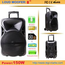 Orador portátil barato do trole a pilhas com USB / SD / FM / Bt