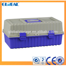 Hot sales 19 inch plastic Tool box with hasp lock