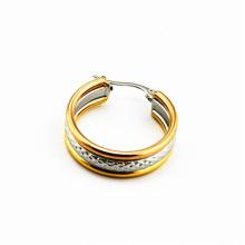 Atacado de aço inoxidável IP ouro earring backing, brinco de aço inoxidável