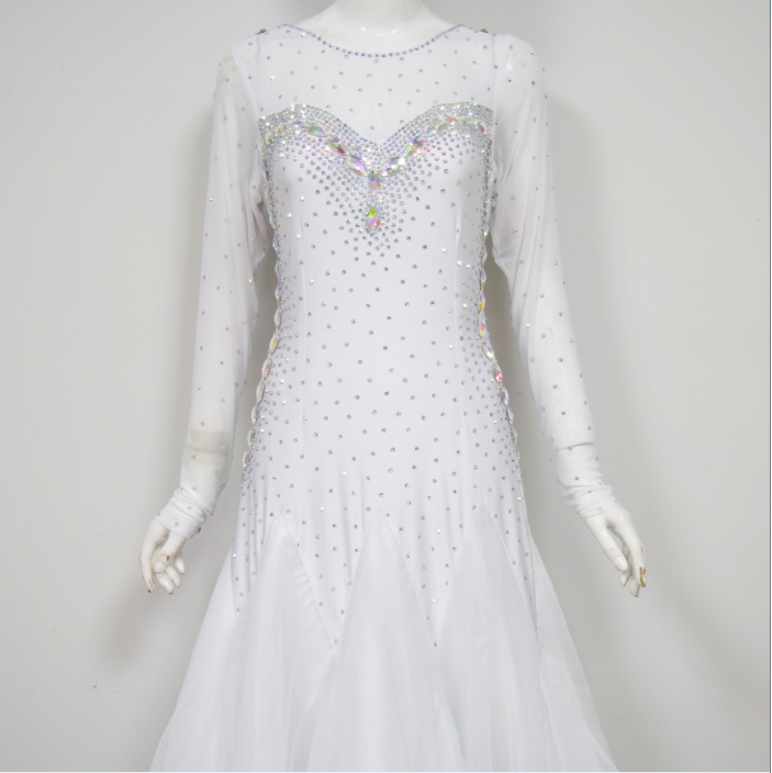 Kids White Ballroom Dresses