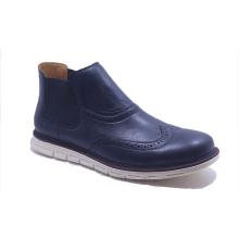 Men Cool Elastic PU Brown Martin Boots