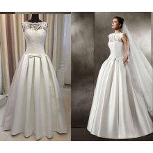 Satin 395 Pleat Floor Length Wedding Dress
