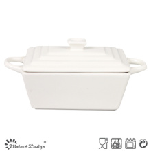 Beige Soup Bowl with Lid