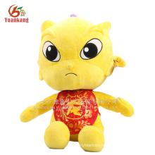 Golden dragon Chinese dragon plush toy
