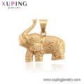 34201 xuping encanto neutro animal elefante chapado en oro colgante