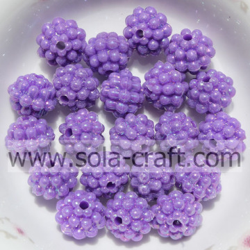 Newest Decorative Artificial Purple Color Berry Shape Beads
