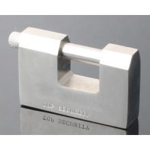 Chrome Plated Rectangular Iron Vane Padlock