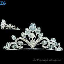 Elegante A nível Cristal coroa rainha de baile e coroa de casamento de cristal