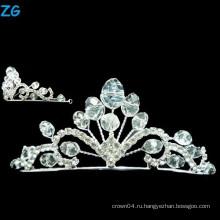 Стильная круглая корона королевы выпускных экзаменов и кристаллическая венчальная коронка