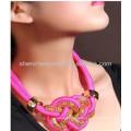 Collar de oro de la joyería artificial 18k plateado de moda