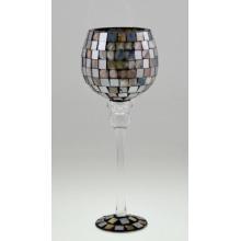 Оптовая светодиодная мозаика вина бутылки стеклянного подсвечника