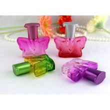 Hermosa flor de perfume de mariposa botellas de vidrio para botellas de fragancia