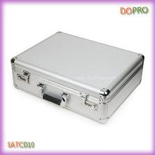 Серебряный цветный портфель с твердым корпусом (SATC010)