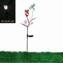 Fantaisie Mosaïque Fleur Décoration en métal Dragonfly Garden Stake Craft