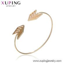 51860 brazalete de moda pulsera de la flecha brazalete chapado en oro indio de las mujeres