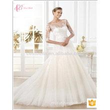 2017 Novo design Vestido de noiva de noiva com vestido de noiva com seda sexy