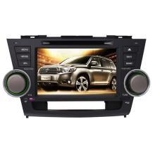 2DIN автомобильный DVD-плеер, пригодный для Toyota высокого Lander Highlander 2008-2014 гг с радио Bluetooth стерео TV GPS навигационной системы