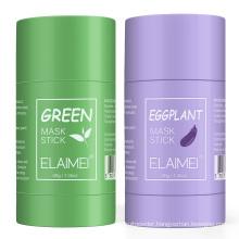 OEM private label skin care deep cleansing solid mud facial mask stick moisturizing anti-wrinkle skin repairing green mask stick