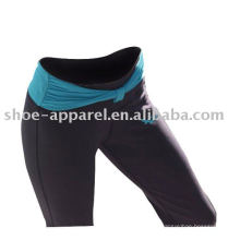 Wholesale polyester spandex fitness yoga pantalons femmes, pantalons de gymnastique