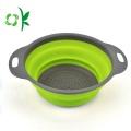 Recipiente dos recipientes da cozinha da cesta do vegetal de fruta do silicone