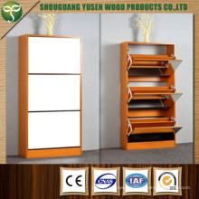 Wooden Three Doors Shoe Rack