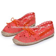 Вязаные детские повседневные туфли с ботинками для девочек espadrille