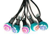 Festival G40 farbige Blumenmalerei String Light
