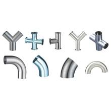 3A / Dn / Bpe aço inoxidável sanitárias soldadas acessórios de tubulação