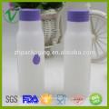 Placa de garrafa de leite em PEAD redonda vazia personalizada de grau alimentar com tampa