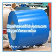 Grosor PPGI de primera calidad 0,22 mm bobina de acero galvanizado prepintado