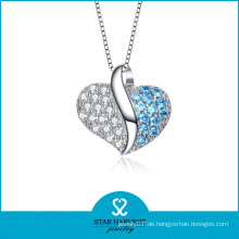 European Fancy Heart Style Silber Anhänger (N-0124)