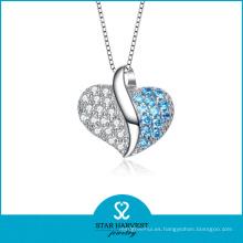 Colgante europeo de la plata del estilo del corazón de la suposición (N-0124)