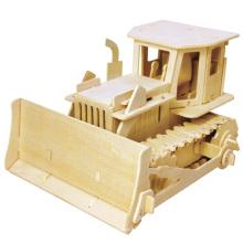Бутик Бесцветные деревянные игрушки транспортных средств-Бульдозер
