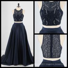 2017 Nouvelle robe de soirée à 2 morceaux Satin Sequins Evening Party Gown