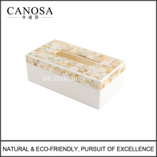 Golden Seashell Resin Tissue Box Cover för hotell