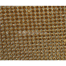 Hot Fix Adesivo Rhinestone Folha, Hot Fix Crystal Rhinestone Malha Trimming Roll