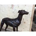 Жизнь Размер бронзовая статуя металл ремесла собака для продажи